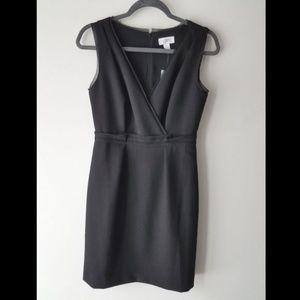 Ann Taylor LOFT Black Sheath Dress Pleated